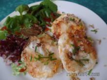 Frittierte Eier mit Salat - Rezept