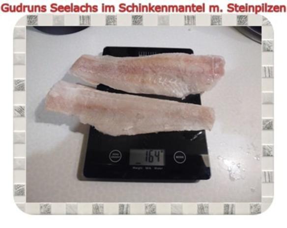 Fisch: Seelachs im Schinkenmantel mit Steinpilzen - Rezept - Bild Nr. 2