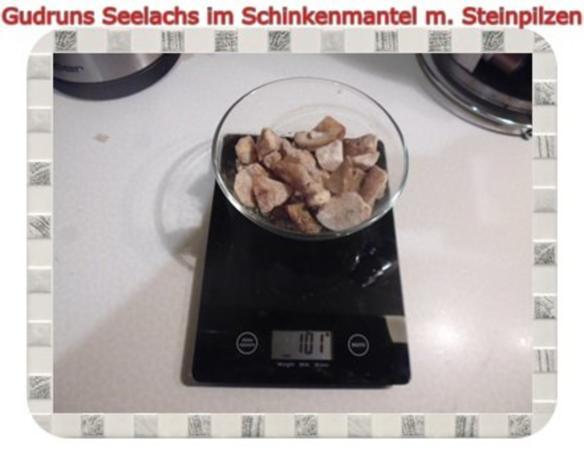 Fisch: Seelachs im Schinkenmantel mit Steinpilzen - Rezept - Bild Nr. 3