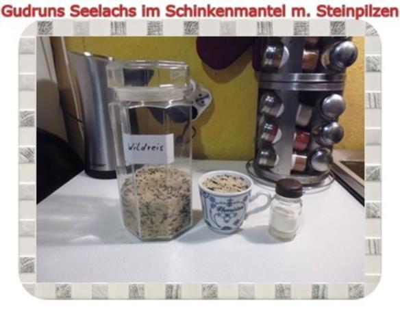 Fisch: Seelachs im Schinkenmantel mit Steinpilzen - Rezept - Bild Nr. 4