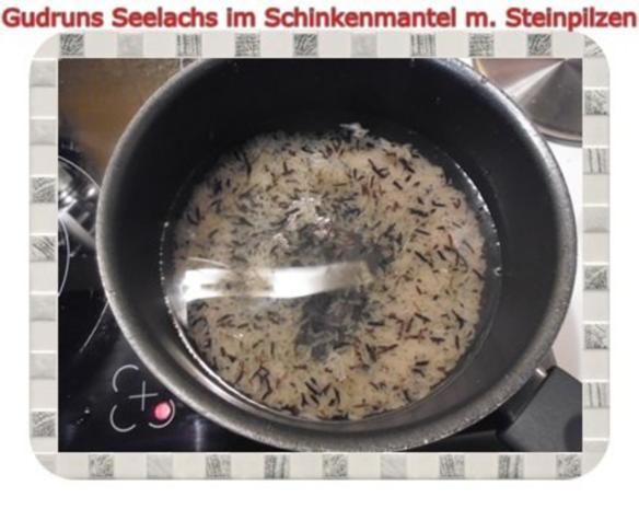 Fisch: Seelachs im Schinkenmantel mit Steinpilzen - Rezept - Bild Nr. 5