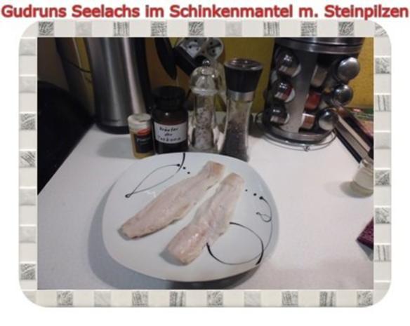 Fisch: Seelachs im Schinkenmantel mit Steinpilzen - Rezept - Bild Nr. 6