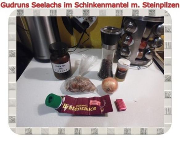Fisch: Seelachs im Schinkenmantel mit Steinpilzen - Rezept - Bild Nr. 10