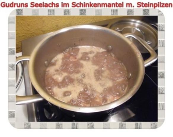 Fisch: Seelachs im Schinkenmantel mit Steinpilzen - Rezept - Bild Nr. 14
