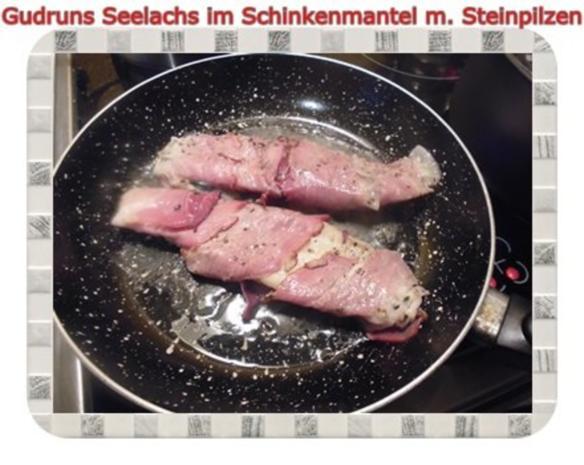 Fisch: Seelachs im Schinkenmantel mit Steinpilzen - Rezept - Bild Nr. 15