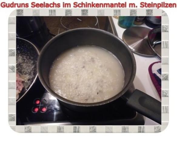 Fisch: Seelachs im Schinkenmantel mit Steinpilzen - Rezept - Bild Nr. 17