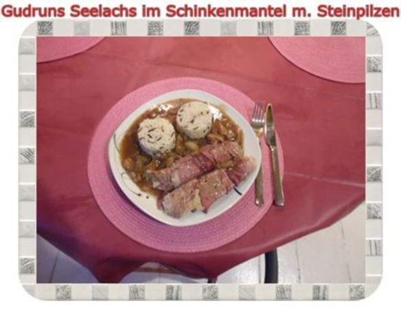 Fisch: Seelachs im Schinkenmantel mit Steinpilzen - Rezept - Bild Nr. 18