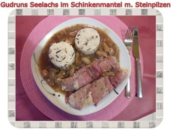 Fisch: Seelachs im Schinkenmantel mit Steinpilzen - Rezept - Bild Nr. 19
