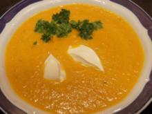 Ingwer-Knoblauch-Möhren-Suppe - Rezept
