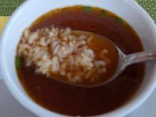 Tomaten - Paprika - Reissuppe - Rezept