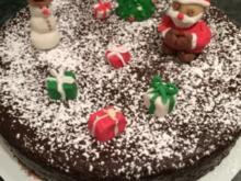 Weihnachtlicher Schokoladenkuchen - Rezept