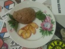 Mousse au Chocolat mit karamellisierten Äpfeln - Rezept