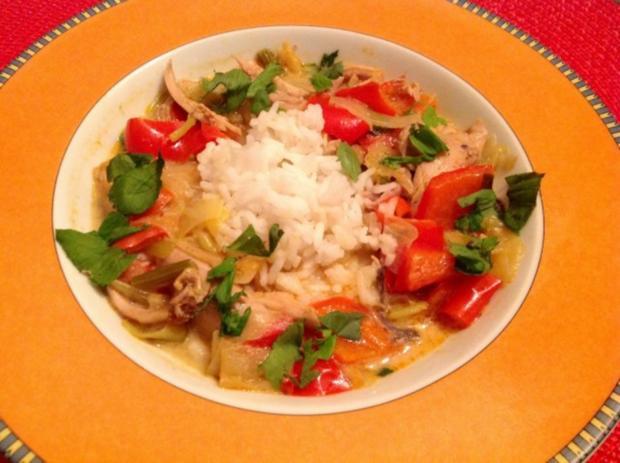 Asiatisches Hähnchen Curry - Rezept