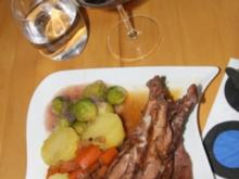Werner's Hase mit Rosenkohl und Kartoffeln - Rezept