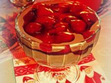 Dessert: Lebkuchen-Nutella-Creme mit Kirschkompott - Rezept