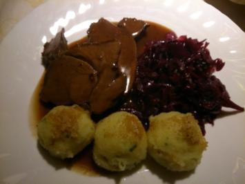 Zarte Rehkeule in Rotweinsoße (Ohne Einlegen) - Rezept