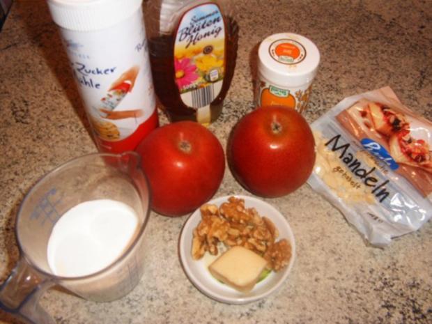 Knusprige Apfelringe mit Marzipansahne - Rezept - Bild Nr. 2