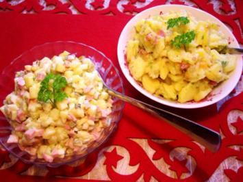 Kartoffelsalat - mit Mayonnaise oder mit Speck?? - Rezept