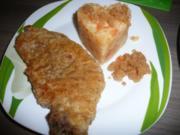 Schweine Kotelett an Kartoffel - Karotten - Steckrübenstampf - Rezept