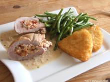 Gefülltes Schweinefilet mit Kräuter-Frischkäse - Rezept