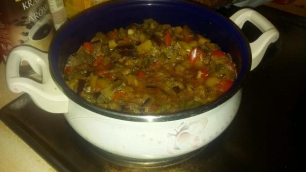 Ratatouille mit Hackfleisch und Reis - Rezept