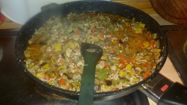 Ratatouille mit Hackfleisch und Reis - Rezept - Bild Nr. 4