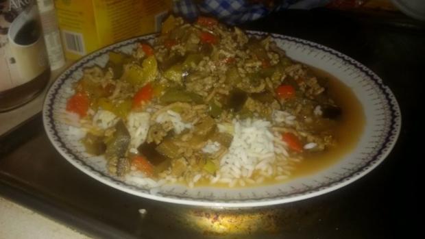 Ratatouille mit Hackfleisch und Reis - Rezept - Bild Nr. 5