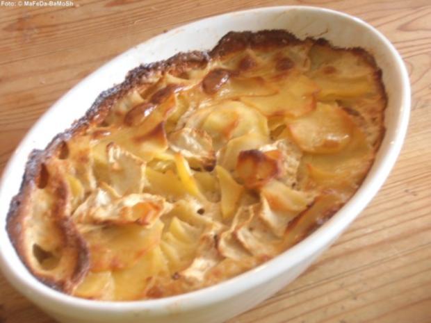 Kartoffel-Sellerie-Gratin - Rezept