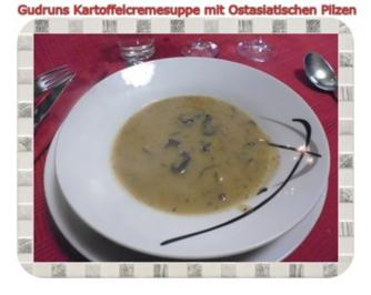 Suppe: Kartoffelcremesuppe mit Ostasiatischen Pilzen - Rezept