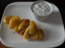 Kartoffeln Salbei-Sesam mit Kräuterdip - Rezept