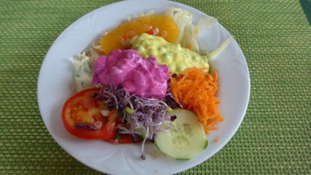 Salat : Bunter Salat-Teller....der Nächste - Rezept - Bild Nr. 2