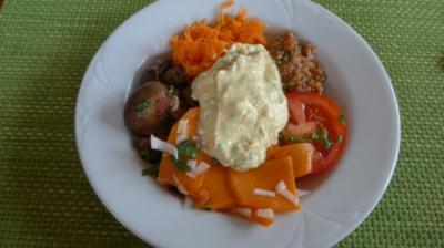 Ein leckerer bunter Salat-Teller - Rezept