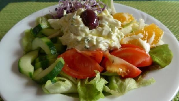 Salat : Bunter Salat-Teller - Rezept - Bild Nr. 2