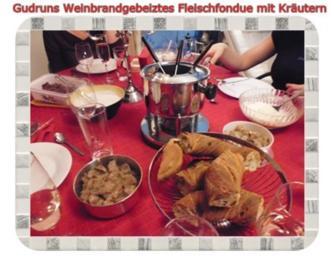 Fondue: Weinbrandgebeiztes Fleischfondue - Rezept