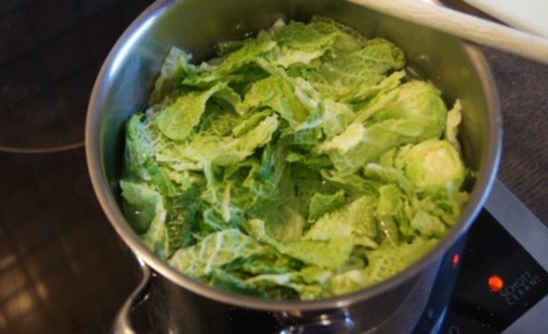 Schlemmerfilet mit Rosenkohl-Wirsing Gemüse und Sellerie-Kartoffelstampf - Rezept - Bild Nr. 4