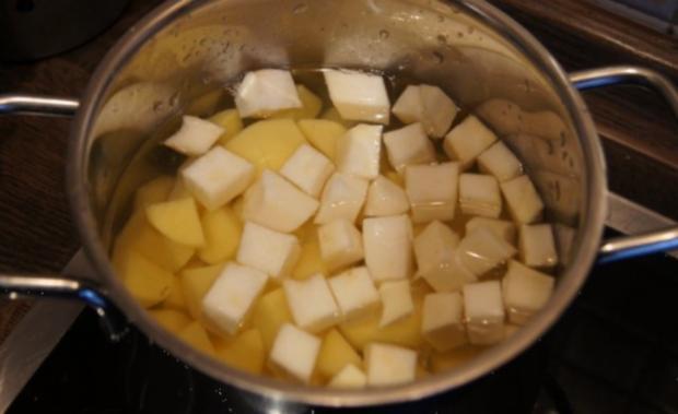 Schlemmerfilet mit Rosenkohl-Wirsing Gemüse und Sellerie-Kartoffelstampf - Rezept - Bild Nr. 9