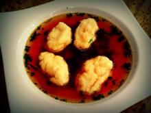 Grießnockerl als Suppeneinlage; Vorspeise - Rezept