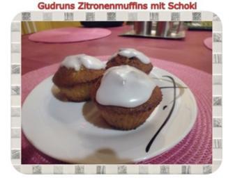 Muffins: Zitronenmuffins mit Schoki - Rezept