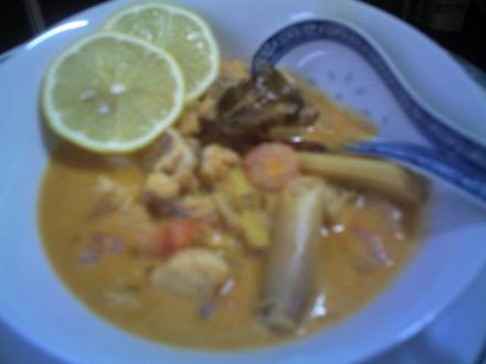 Fischsuppe mit Coco-Milch - Rezept