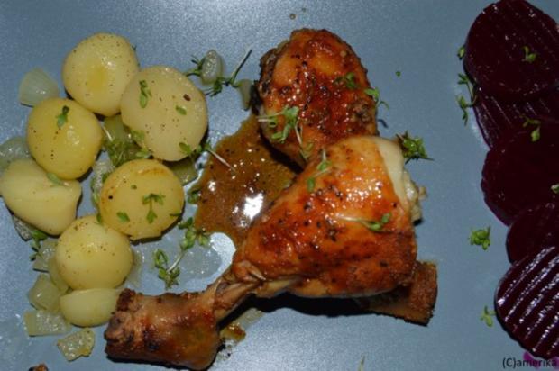 Schnelle, scharfe Hühnerschenkel aus dem Ofen - Rezept - Bild Nr. 2