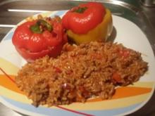 Gefüllte Paprika mit Hack und Reis - Rezept