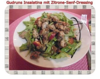Salat: Insalatina mit Zitrone-Senf-Dressing - Rezept