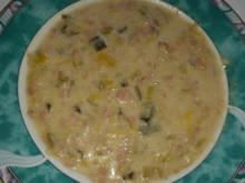 Suppen und Eintöpfe: Moni's Lauchcremsuppe mit Putenhackfleisch - Rezept