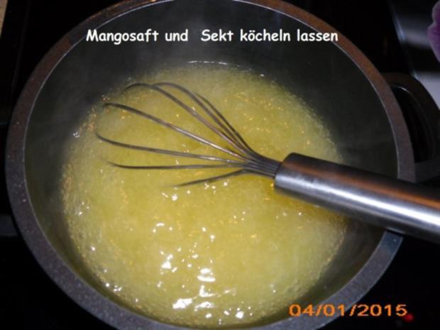 Dessert: Mango-Sekt-Creme - Rezept - Bild Nr. 4