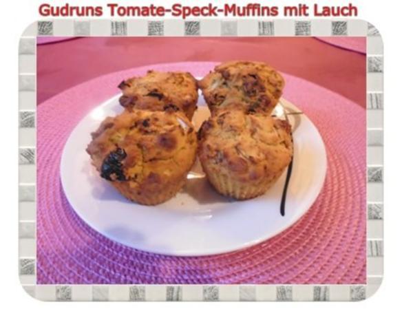 Muffins: Tomate-Speck-Muffins mit Lauch - Rezept