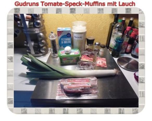 Muffins: Tomate-Speck-Muffins mit Lauch - Rezept - Bild Nr. 2