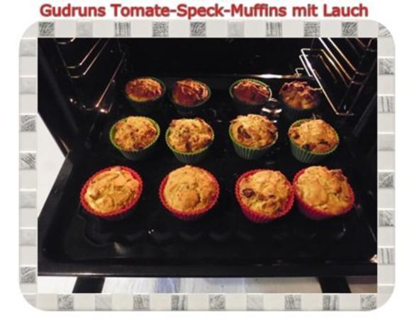 Muffins: Tomate-Speck-Muffins mit Lauch - Rezept - Bild Nr. 13
