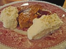 Linzer Törtchen an Tonka-Schaum - Rezept