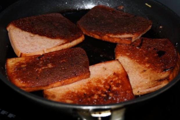 Appetitanreger: Himmel und Äd mit Fleischkäse auf Amuse Geule - Rezept - Bild Nr. 4