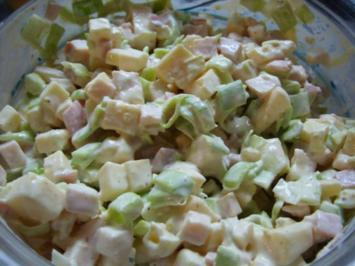 Käse-Lauch-Salat mit Kassler - Rezept